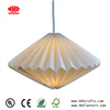 2018 New Design Origami Lampshade White Paper Light Shade