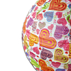 High Quality Chinese Folk Art Handmade Heart Shaped Printed Paper Lantern for All Kinds of Occasion Party Decoration