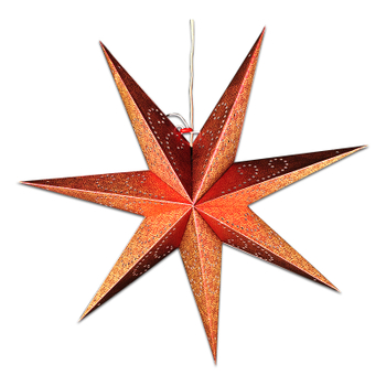 24 Inch Cut Out 7 Points Star Paper Lantern, Wedding, Baby Shower Party Decoration