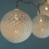 10 LED WHITE ROUND TEXTURE COTTON BALL STRING LIGHT, BATTERY OPERATED