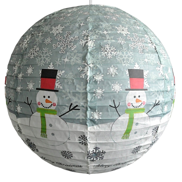 Merry Christmas Printing Frosty Paper Lantern Lamp Shade