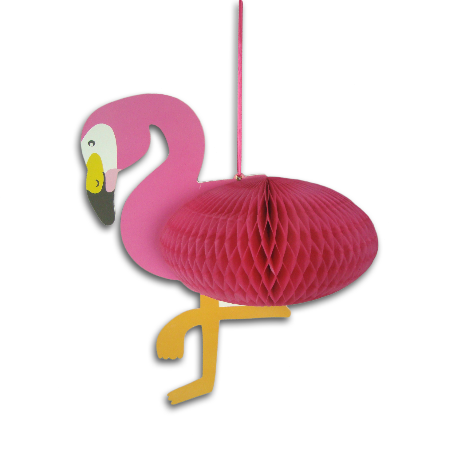 Flamingo paper honeycomb for Christmas party hanging decoration
