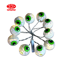 Factory High Quality Direct Sales 10 Halloween LED Fairy Lights String Pumpkins Spiders Skeleton Window Decor