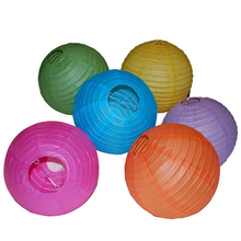 Wedding Birthday Baby Shower Party Decoration Supplies Paper Lantern in Assort Colors