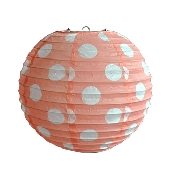 Party Decoration Pink Ot Printing Round Chinese Rice Paper Lanterns
