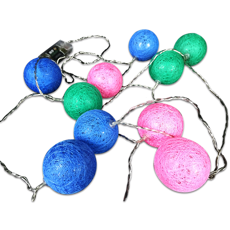 Wholesale Fashion LED Fairy Cotton Ball Light Chain String Lights in Multi Color
