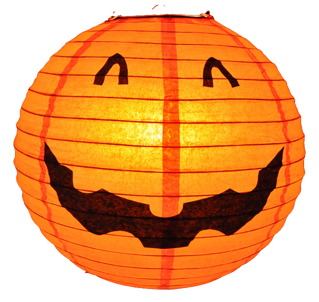Halloween Decoration Pumpkin Round Paper Lantern