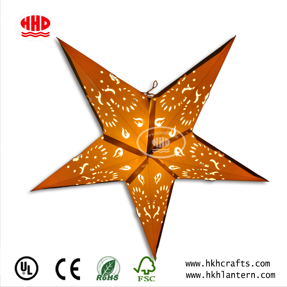 Wholesale paper star laser lantern Christmas outdoor lights