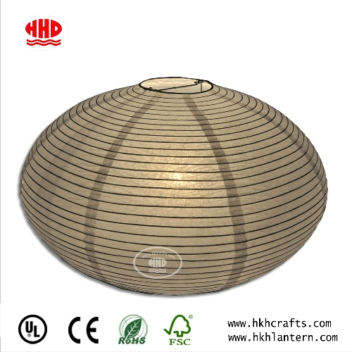 Custom Fine Ribbing Table Lamp with Rice Paper Shade Desk Light for Living Room