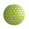 Event And Party Supplies Round Green Dots Paper Lantern