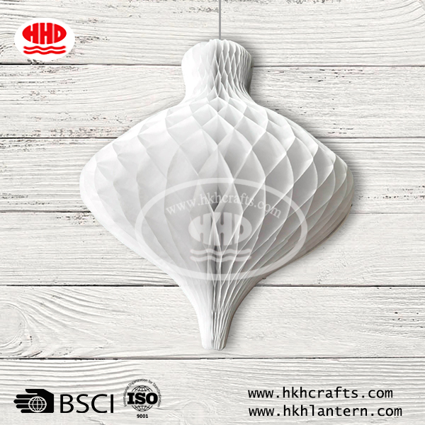 White Christmas decoration honeycomb paper bell