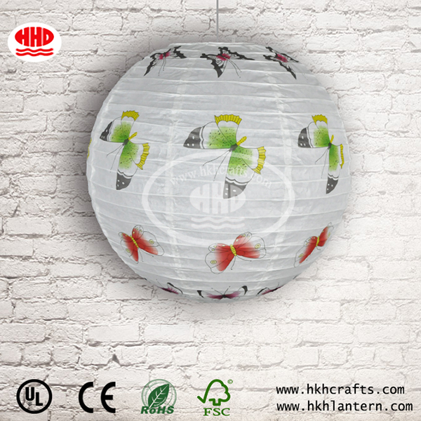 Wholesale Round Decorative Hanging Ceiling Light Paper Lantern
