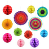 Factory Bulk Sales Multi Color Round Paper Fan Home Party Decoration in Variety Dimension
