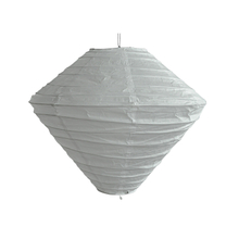 Indoor hanging ornaments diamond shape white large rice paper lampshade