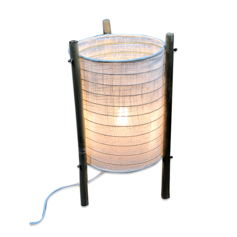 Bamboo Handmade New Product Ideas 2019 HOT Selling Paper Lantern Nature Fabric Table Lamp