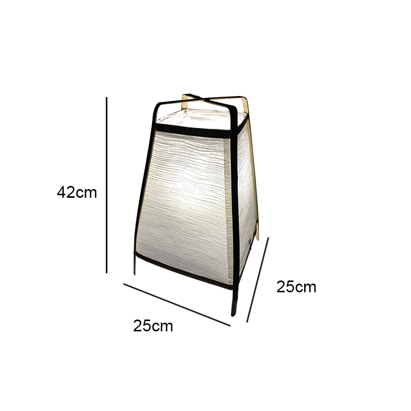 Elegant Appearance Handmade Bamboo Frame Paper Folded Shade Table Lamp